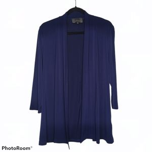 Slinky Brand Navy Blue Swing Cardigan Flowy Jacket